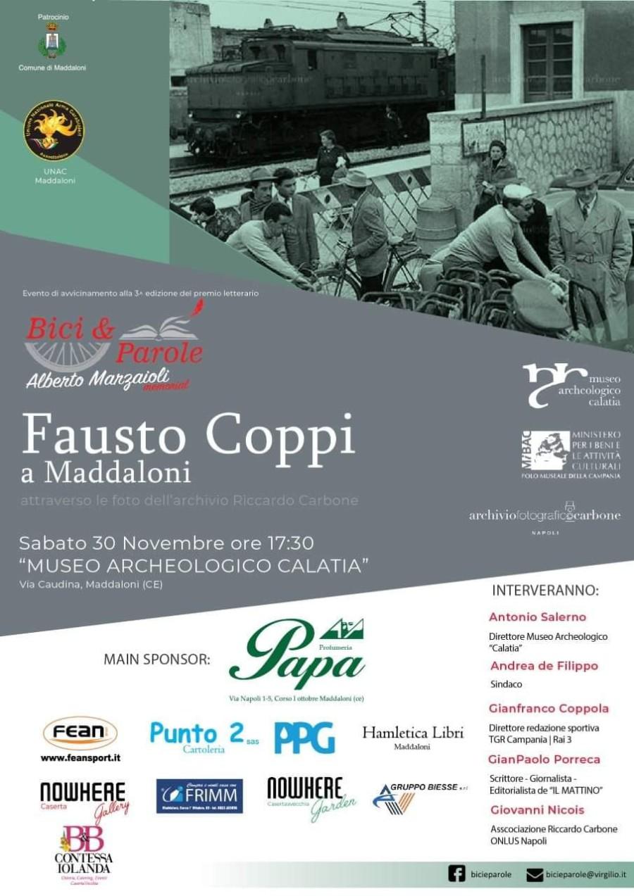 locandina Fausto Coppi a Maddaloni